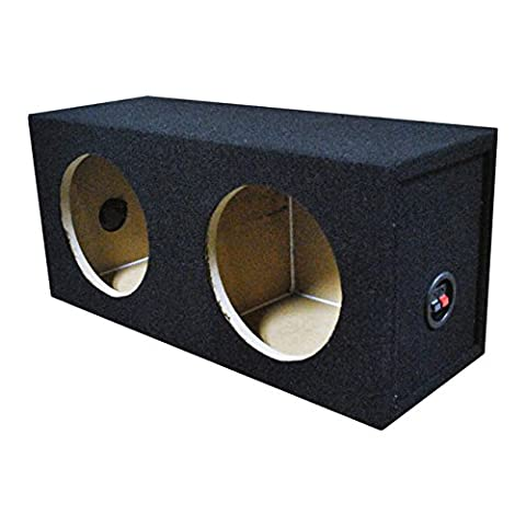 Q Power Solo Series Universal Dual 8 Inch Sealed Compact Car Subwoofer Enclosure (8in Sub Box)