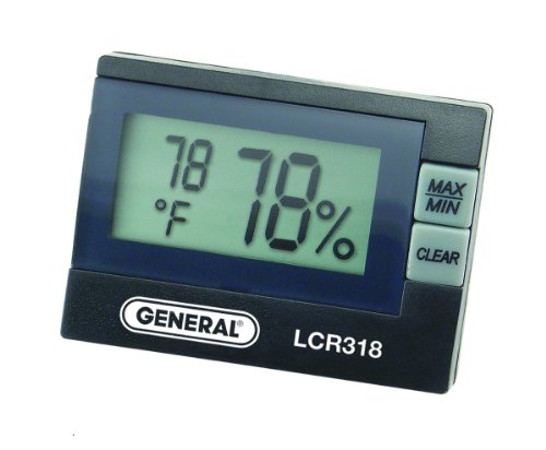 - Indoor Digital Hygrometer, 14 to 140 F