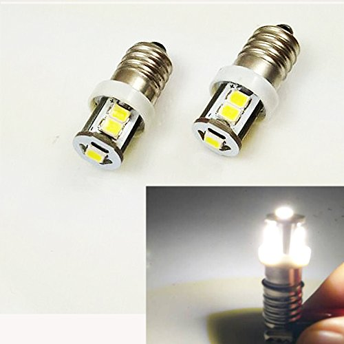 Headlamp Auto Car - 4X E10 6V 2835 7SMD 6000k/4300k MES Screw LED Light Bulb Head Lamp Interior Auto Car Motorcycle (White)