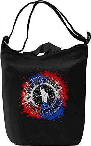 New York Sign Borsa Giornaliera Canvas Canvas Day Bag| 100% Premium Cotton Canvas| DTG Printing|
