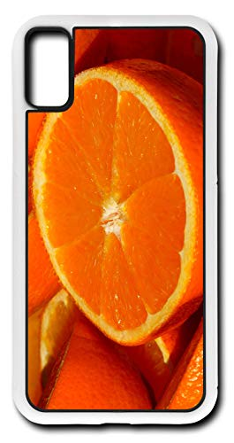 iPhone X Case Orange Fruit Vitamins Vitamin C Citrus Fruits Florida Navel Customizable by TYD Designs in White Rubber