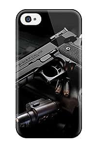 ZippyDoritEduard Scratch-free Phone Case For Iphone 4/4s- Retail Packaging - Gun