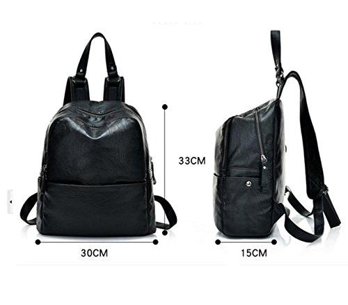 RAN Art Und Weise PU-Schultertasche Freizeit-Rucksack Reisetasche Mit Großer Kapazität