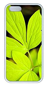iPhone 5S Customized Unique Landscape Flowers Leaves 5 New Fashion TPU White iPhone 5/5S Cases