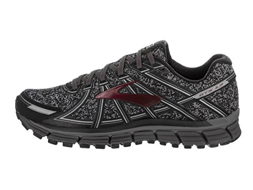 Brooks Adrenaline GTS 17, Scarpe da Corsa Uomo Metallic Charcoal/Black/Tawny Port