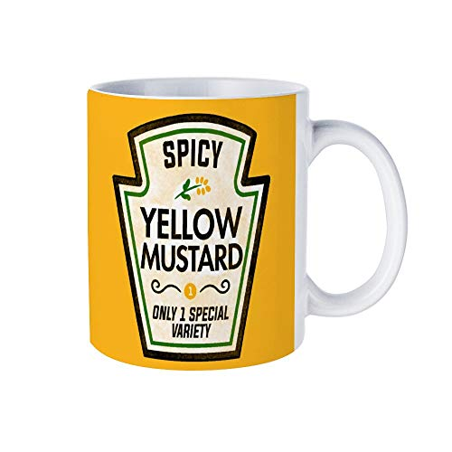 Funny Mug with Funny Mustard Halloween Costume - Newbango - 11oz White Coffee Mug for Birthday and any Special Occasions. Laugh with Friends, Family and Coworkers.]()