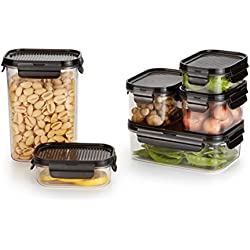 LOCK & LOCK PREMIUM, 12-Piece Set, Crystal Clear, BPA Free, 100% Airtight, Food Storage Container with Lid