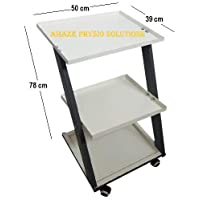Amaze Physio Solutions Z Trolley with Runners for Hospital/Salon/SPA/Clinic