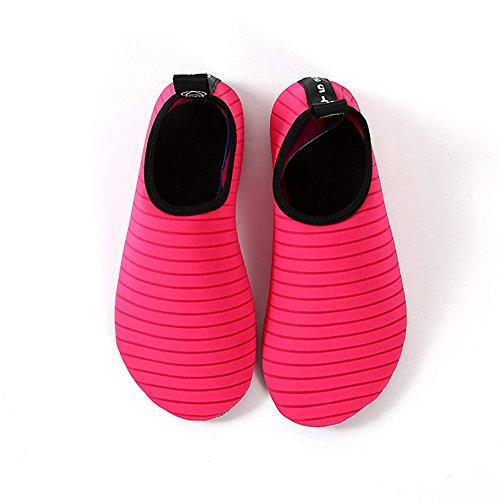 Surf Chaussures Pantoufles Chaussettes En Hommes D'eau Pour Yoga De Tw Beach Pieds Nus Semelle Socks Nager red Diving Caoutchouc Noprne Peau Femmes Felove Running Et Aqua Snorkeling rwt7q6aw