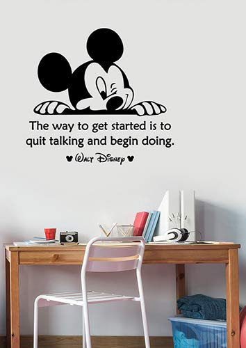 Amazon.com: The Way to Get Started Inspirational Quote Wall ...