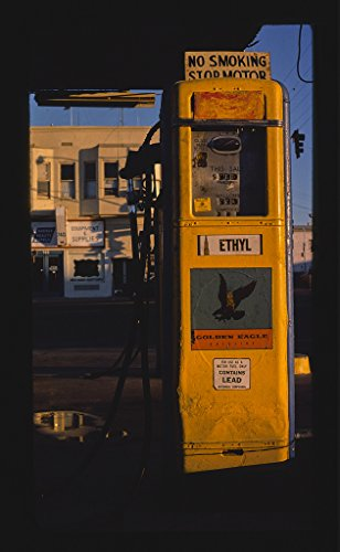 - 16 x 24 Gallery Wrapped Framed Art Canvas Print of Golden Eagle Gas Pump #2, San Diego, California 1977 Roadside Americana Ready to Hang 13a