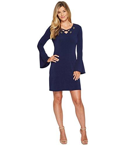 殉教者テクトニック回転させる[マイケル マイケルコース] MICHAEL Michael Kors レディース Grommet Lacing Dress ドレス True Navy XS [並行輸入品]