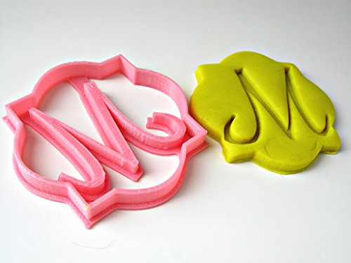 Initial Plaque (Custom Single Letter Monogram Cookie Cutter, Plaque Shaped, Personalized with Your Initial, Birthday Wedding Anniversary)