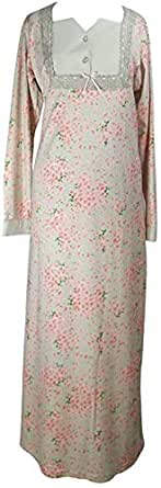 Eve Stark Neck Galabeya For Women - Gray And Rose, Large
