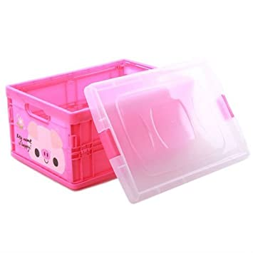 THE GURU SHOP Plastic Folding Storage Box with Lid Ware