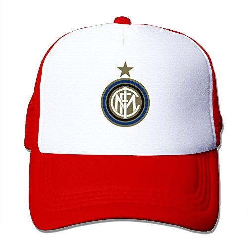 - Trucker Inter Milan Soccer Club Adjustable Mesh Back Baseball Cap Red