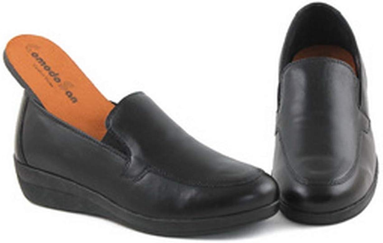 Zapatos Estil Anchos Especiales ComodoSan 5563 Corte-Piel,Forro ...
