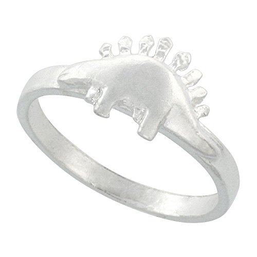 Sterling Silver Stegosaurus Dinosaur sizes