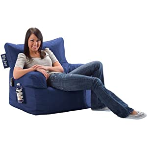 Big Joe Bean Bag Chair, Multiple Colors (Blue Sapphire)