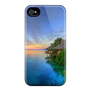 New Arrival Case Cover With Iz-1483-QXZqx Design For Iphone 4/4s- Lake Side Huts