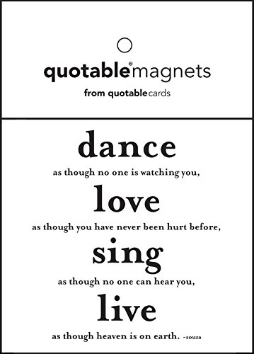Dance, Love, Sing... Unknown Black and White Magnet (Magnet Dance)