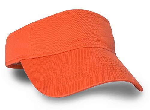 KC Caps Blaze Orange Hunting Basics Visor Low Profile Tangerine Hat with Adjustable Closure