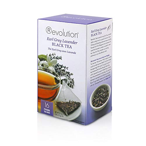 Revolution Tea Earl Grey Lavender Black Tea, 16 Count