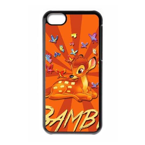 Bambi 023 coque iPhone 5c cellulaire cas coque de téléphone cas téléphone cellulaire noir couvercle EOKXLLNCD26314