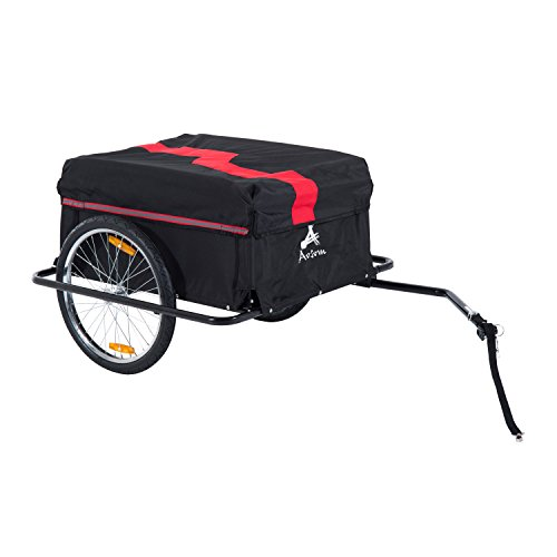 Buy Discount Aosom Elite II Bike Cargo / Luggage Trailer - Red / Black