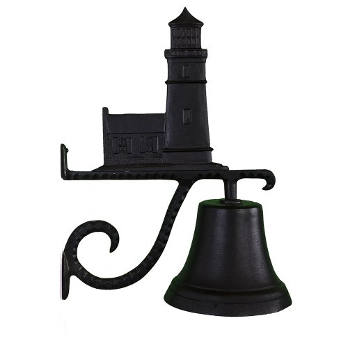Montague Metal Products Cast Bell with Black Cottage Lighthouse -