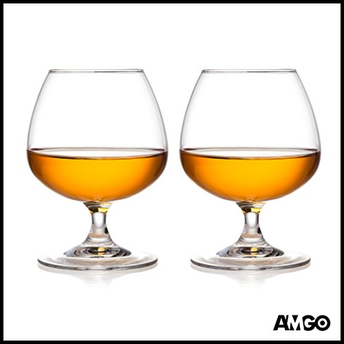 [Amgo 100% Crystal Cognac Brandy Snifters Glasses, Top of the Line, Lead Free, 8.45 oz., Set of 2] (Very Special Cognac)
