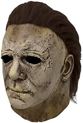 di Halloween di Orrore Gomma Testa Completa Maschera Assassino Costume con Deluxe di Lana Morbido dei Capelli yacn Michael Myers Maschera per Adulti