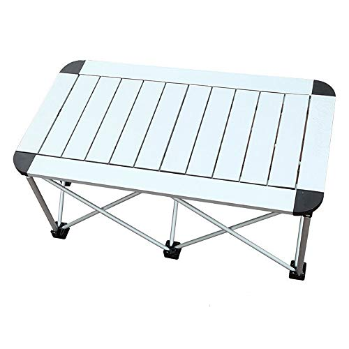 CHENGGUO Outdoor Portable Aluminum Folding Table, Dining Table Rectangular Table Portable Camping Barbecue Picnic Folding Table, Portable Folding Table