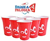 DRINK-A-PALOOZA REUSABLE Plastic Keg Drinking Cups (6 count) for Drinking Beer and playing Beer Pong & Flip Cup: Dishwasher Safe