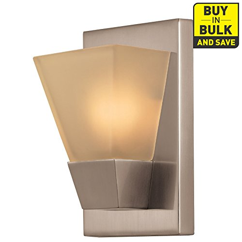 Light Pocket Wall (Portfolio 5.52-in W 1-Light Brushed Nickel Pocket Hardwired Wall Sconce)