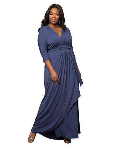 Kiyonna Women's Plus Size Wrapped in Romance Dress 5X Bluebird (Dresses In 5x For Women)