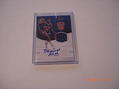 2016-17 Limited Game Used Jersey Auto 24/49 Signed Card - Basketball Autographed Game Used Cards (Bernard King Autographed Basketball)