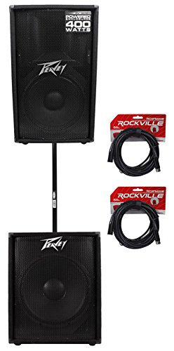 "Peavey PV115D 15"" Powered PA Speaker +PV118D 18"" Active Sub +FREE Pole +Cables"