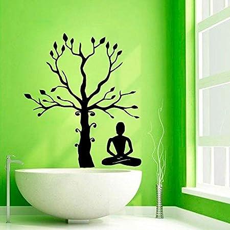 jiushivr Yoga Studio Meditation Tree Adhesivo de Pared Tree ...