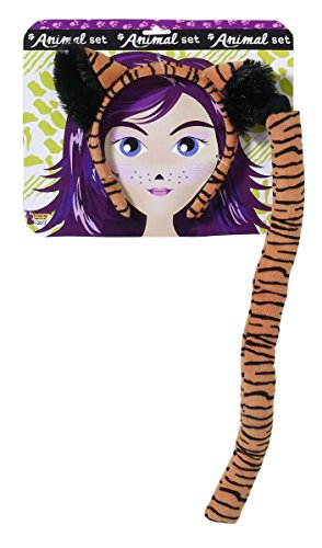 Forum Novelties Women's Playful Animals Tiger Costume Accessory Set, Multi, One size