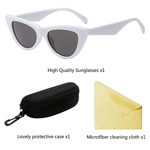 para PC Eyes Cat White Eyewear Gafas Pequeñas Sol Style Zhhlaixing Mujer Personalidad Moda Lens de Gafas AqRwUU