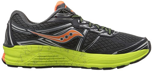 Saucony Guide 9 - Zapatillas de Running para Asfalto Hombre Gris (Grey (Midnight/Citron/Orange)Midnight/Citron/Orange)