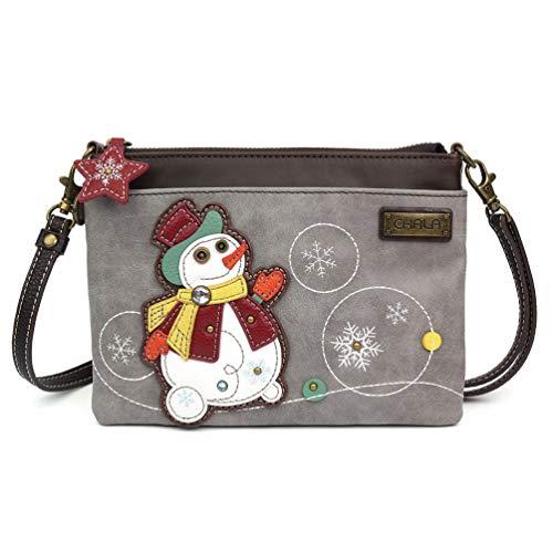 Chala Mini Cross-body Messenger Bag (Snowman Grey)