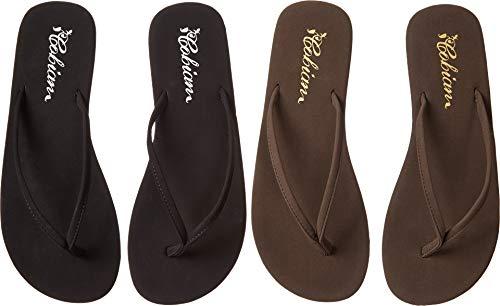cobian Women's Nias General Open Footwear,Black/Chocolate,9 B US