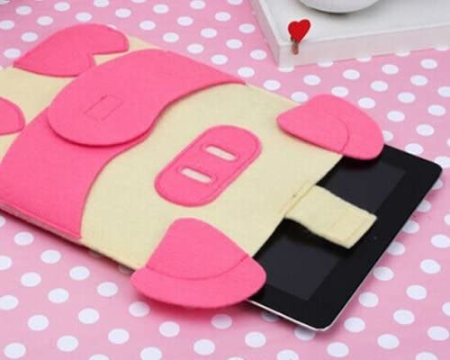 Pink Pig Clover Cartoon Cute Soft Wool Series Bag Cover Carrying Protector Case Bag for 13-inch MacBook Air//MacBook Pro Sleeve Case