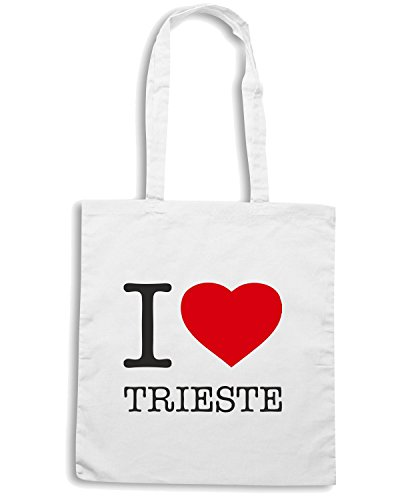 T-Shirtshock - Bolsa para la compra TLOVE0069 i love trieste Blanco