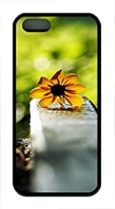 iPhone 5 5S Case nature flower colorful 5s TPU Custom iPhone 5 5S Case Cover Black