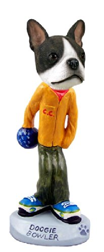 Boston Terrier Bowler Doogie Collectable Figurine