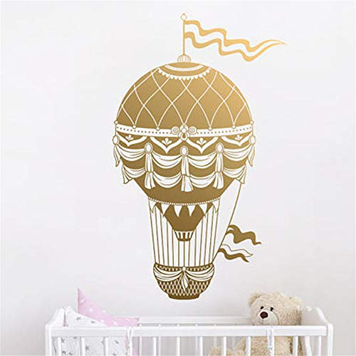 Poinly Wall Stickers Art DIY Removable Mural Room Decor Mural Vinyl Hot Air Balloon Pattern for Kids Room Decal Nursery Bedroom Cute Room