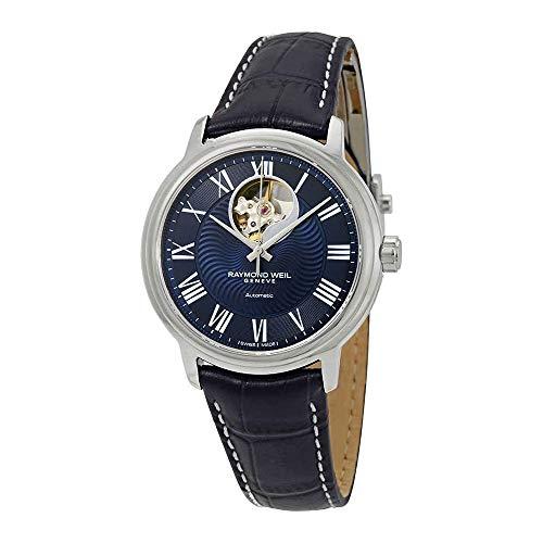 Raymond Weil Men's 2227-STC-00508 Maestro Analog Display Automatic Self Wind Blue Watch